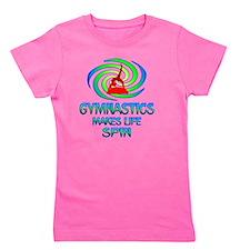 Gymnastics Spins Girl's Tee