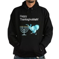 Happy Thanksgivukkah 1 dark Hoodie