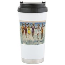Vintage Long Island Beach Bathi Ceramic Travel Mug
