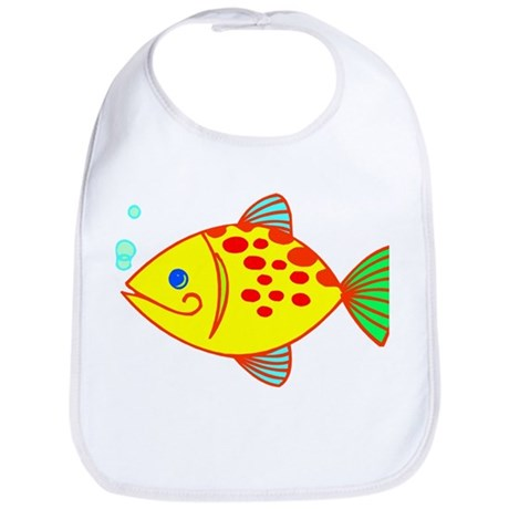 Yellow Fish Bib