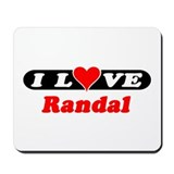 I Love Randal Mousepad