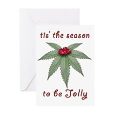 Tis the Season to be Jolly Holiday W Greeting Card