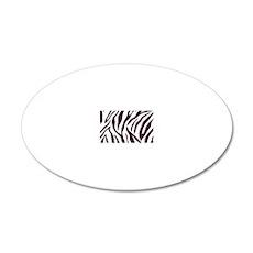 Zebra Stripes 20x12 Oval Wall Decal