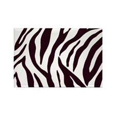 Zebra Stripes Rectangle Magnet