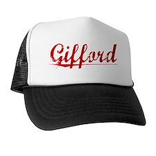 Gifford, Vintage Red Trucker Hat