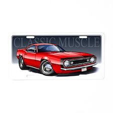 67_Red_B2 Aluminum License Plate