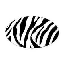 Zebra Stripes Oval Car Magnet