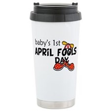Babys 1st April Fools Day Ceramic Travel Mug