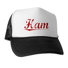 Ham, Vintage Red Trucker Hat