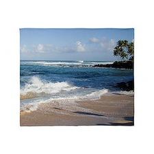 Hawaii North Shore Beach Throw Blanket