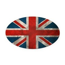 British Union Jack Oval Car Magnet