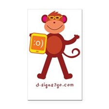 Monkey Yellow Tablet Water Bo Rectangle Car Magnet