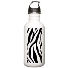 Zebra Stripes Sports Water Bottle