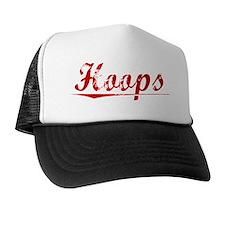 Hoops, Vintage Red Trucker Hat