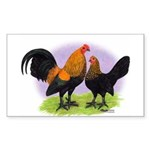 Brown Red OE Bantams Rectangle Sticker