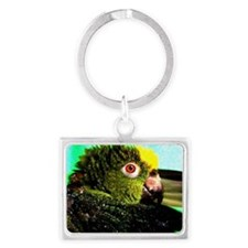 YELLOW CROWNED AMAZON Landscape Keychain