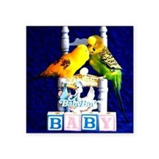 "A BABY BOY Square Sticker 3"" x 3"""