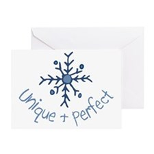 Unique Snowflake Greeting Card