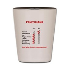 Politician List Shot Glass