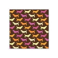 "Samba Bassets Square Sticker 3"" x 3"""