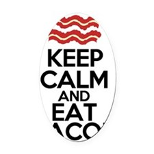 keep-calm-bacon-funny-eat Oval Car Magnet