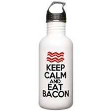 keep-calm-bacon-funny- Water Bottle