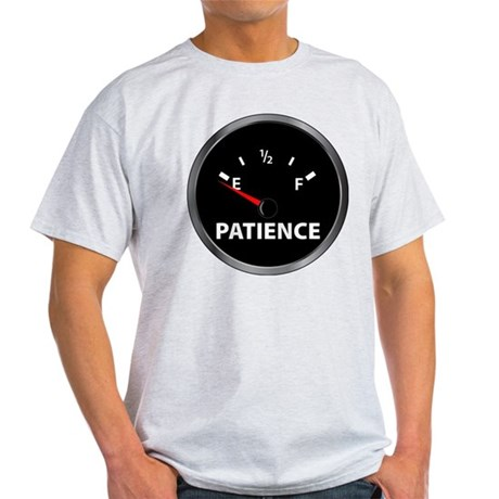 Out of Patience Fuel Gauge Light T-Shirt