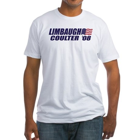 Limbaugh / Coulter President 2008 Fitted T-Shirt