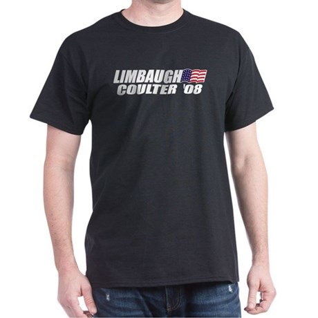 Limbaugh / Coulter President 2008 Dark T-Shirt