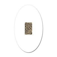 Leopard Print 20x12 Oval Wall Decal