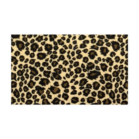 Leopard print 35x21 Wall Decal