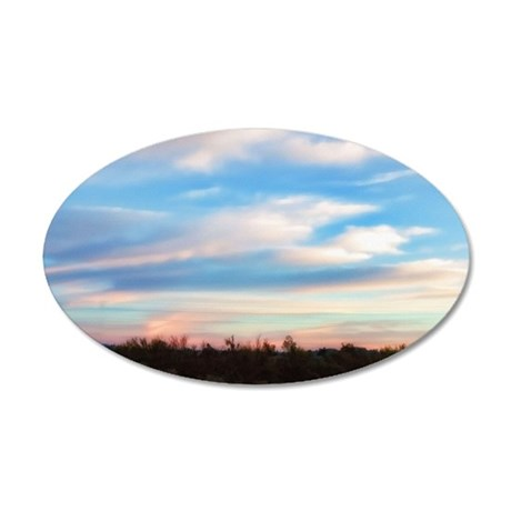 early morning 35x21 Oval Wall Decal