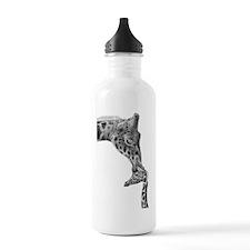 Giraffe and Calf Servi Water Bottle