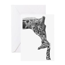 Giraffe and Calf Serving Tray Greeting Card