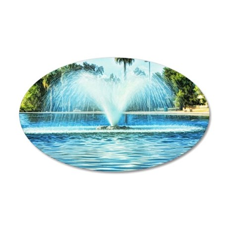 water fan 35x21 Oval Wall Decal