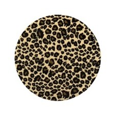 "Leopard Print 3.5"" Button"