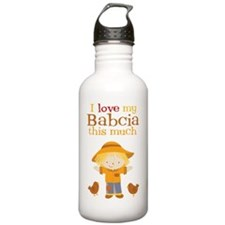 Scarecrow I Love Babci Water Bottle
