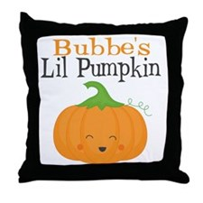 Bubbes Little Pumpkin Throw Pillow