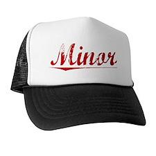 Minor, Vintage Red Trucker Hat