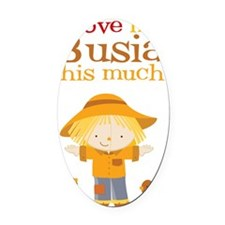 Scarecrow I Love Busia Oval Car Magnet
