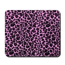 Purple Leopard Print Mousepad
