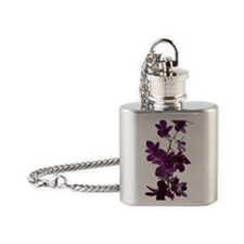 Purple Orchid Spray Flask Necklace