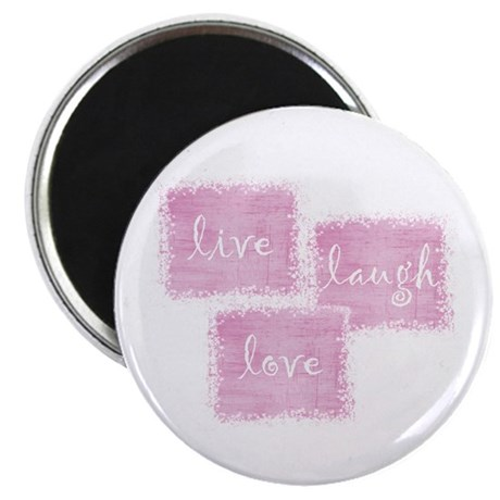 "live, laugh, love 2.25"" Magnet (100 pack)"
