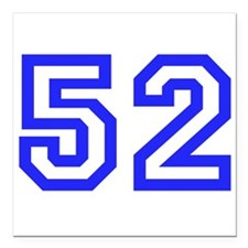 "#52 Square Car Magnet 3"" x 3"""
