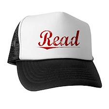 Read, Vintage Red Trucker Hat