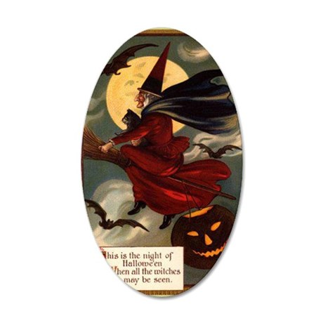 witches may be seen 35x21 Oval Wall Decal