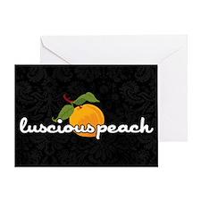 luscious peach laptop skin Greeting Card