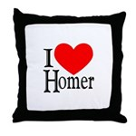 I Love Homer Throw Pillow