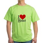 I Love Homer Green T-Shirt