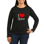 I Love Homer Women's Long Sleeve Dark T-Shirt